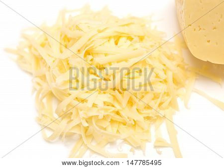 Grated Cheese Isolated