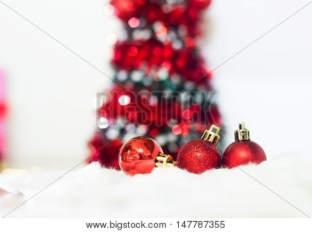 Merry Christmas and happy new year decoration.