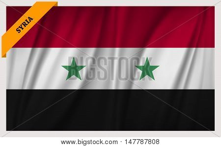 National flag of Syria - waving edition