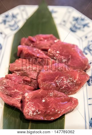 Freshness Japanese fillet wagyu meat BBQ yakiniku
