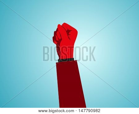 Revolution Hand Inside Background. Politics, Fist,creative Vector Protest Poster Concept