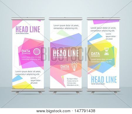 Banner Template with Abstract Geometric Bubble Speech. Vector illustration