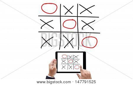 Xo Game Of Tic Tac Toe Game  Close Up Ox (hand Drawn Tic-tac-toe Element)