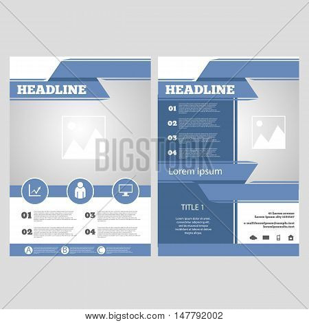 Vector Brochure Flyer Design Layout Template A4 Front Page And Back Page Infographics Eps 10