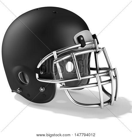 3D Black American Football Helmet