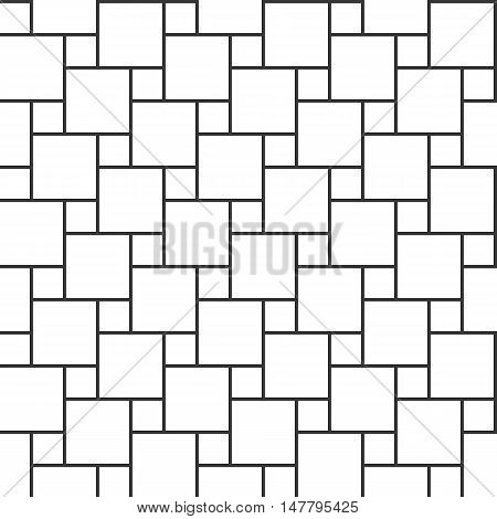 Vector hopscotch pattern, seamless pattern thin line