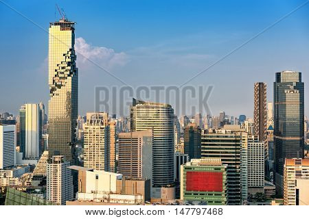 Business downtown of Bangkok City of Thailand.