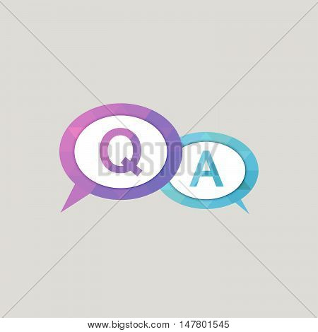Colorful Question and Answer Bubble Speech Icon