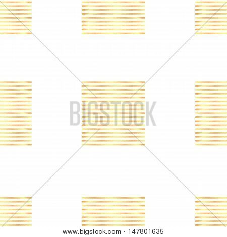 Seamless pattern with abstract geometric stripes ornament golden texture. Template for your design. Vector illustration