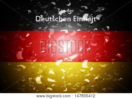 Day of German unity abstract design. Tag der deutschen Einheit. Vector graphic background