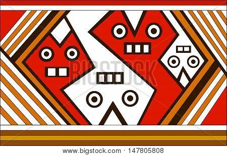 Spirit. Ethnic pattern of American Indians: Aztecs, Mayans, Incas. Vector illustration.