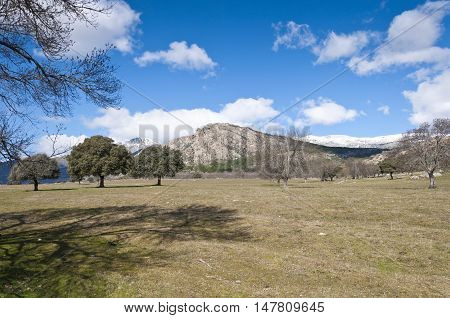 Views of Guadarrama Mountains, in Madrid, Spain