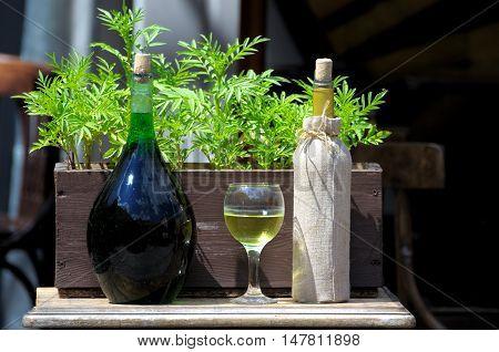 Old Wine Bottle.