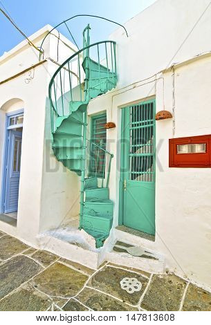 traditional architecture at Apollonia Sifnos Cyclades Greece