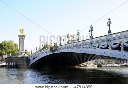 Bridge Alexandre Iii In Paris