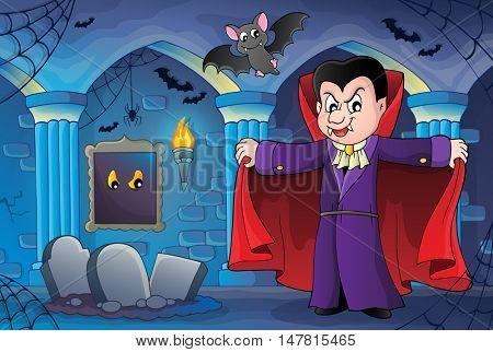 Vampire theme image 7 - eps10 vector illustration.
