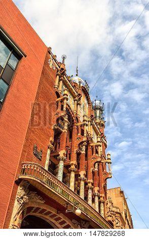 BARCELONA, SPAIN-MARCH 22, 2014: Music Palace in Barcelona (Palau de la Musica) was declared as UNESCO World Heritage site since 1997.