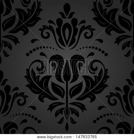 Seamless baroque vector pattern. Traditional classic orient ornament