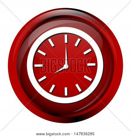 Clock icon working time sign button vector illustration