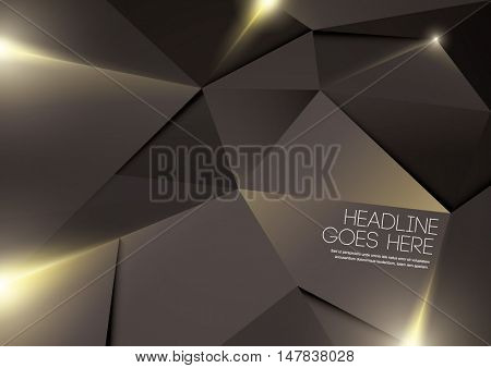 Vector of abstract polygonal background