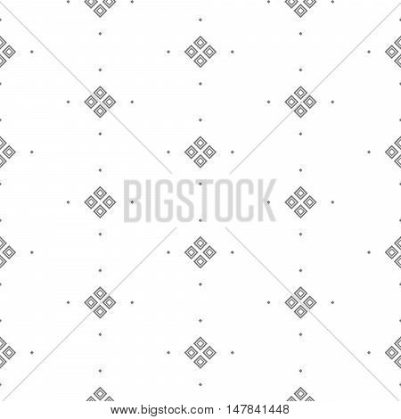Vector seamless pattern with fine geometric shapes. Small rhombuses subtle print white background.