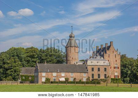 DALFSEN, NETHERLANDS - AUGUST 31, 2016: Historical castle Rechteren in Dalfsen, The Netherlands
