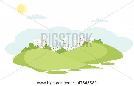 City landscape background.