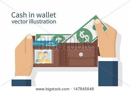 Opened Wallet In Hand