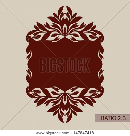 Floral ornament. The template pattern for decorative panel. A picture suitable for printing engraving laser cutting paper wood metal stencil manufacturing. Vector