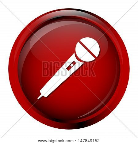 Microphone Icon voice icon red button illustration