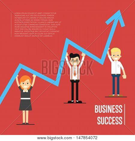 Teamwork people partnership and teamwork business community concept. Cartoon teamwork people. Business success and business team concept. Success teamwork people. Social network people. Teamwork people together vector. Business team and teamwork concept.