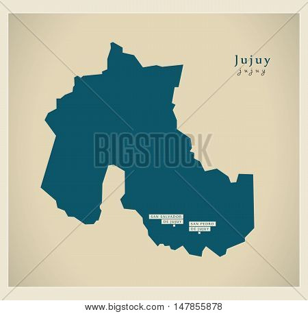 Modern Map - Jujuy AR vector high res