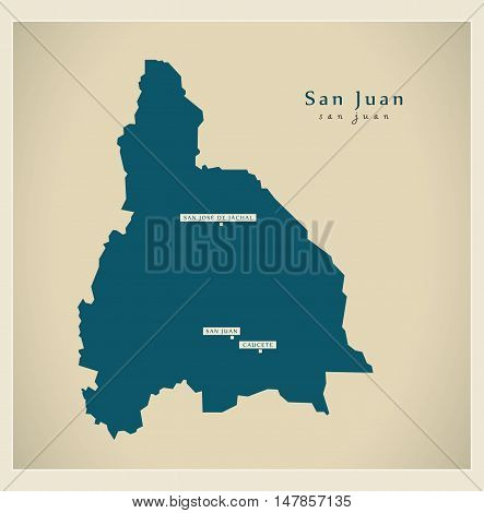 Modern Map - San Juan AR vector
