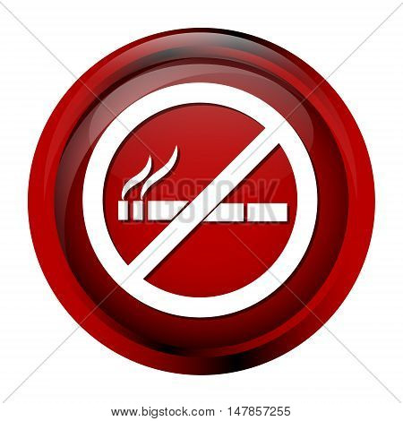 No smoking icon sign button vector illustration