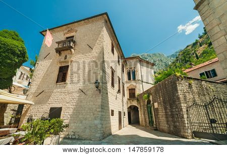 Streets of Old Town Kotor, Montenegro.
