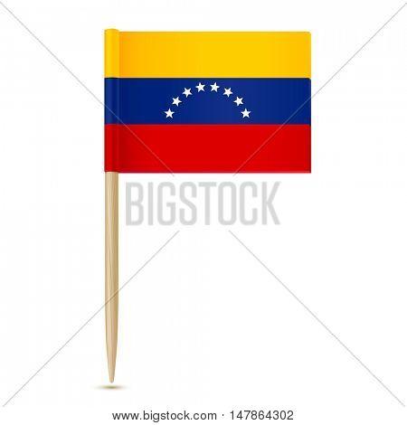 Flag of Venezuela. Flag toothpick on white background 10eps