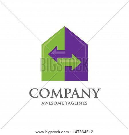 Home and Real Estate  renovation Business logo template
