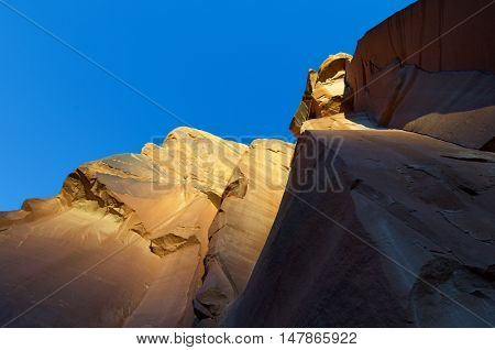 Rock formations in Indian Creek, Utah, United States.