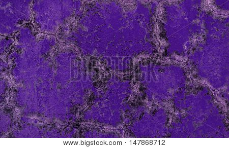 Plaster, plaster texture, plaster background. Old brick wall with plaster, mosaic, violet plaster
