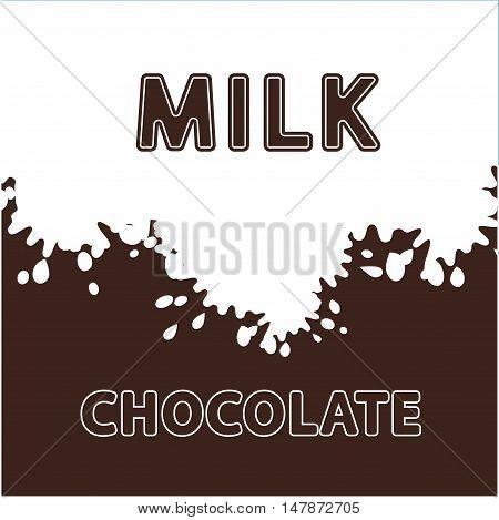 milk chocolate splash logo , icon and vector . tasty beverage