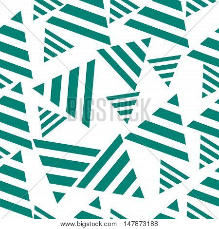 Geometric seamless pattern triangles. Concept art vector illustration