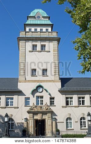 Jugendstilbad (Art Nouveau bath) in Darmstadt (hesse, germany), exterior