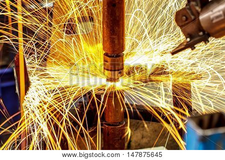 The Industrial automotive spot welding in thailand.