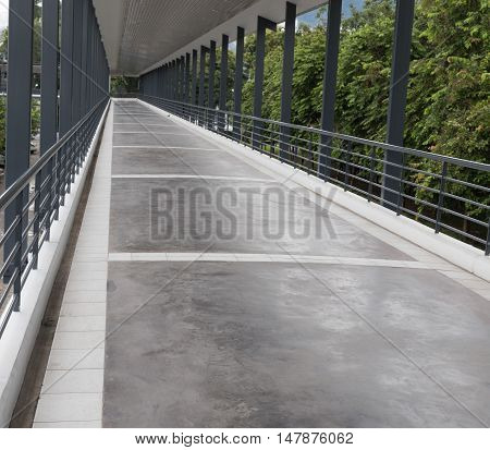 Perspective Of Elevated Pedestrian Walkway