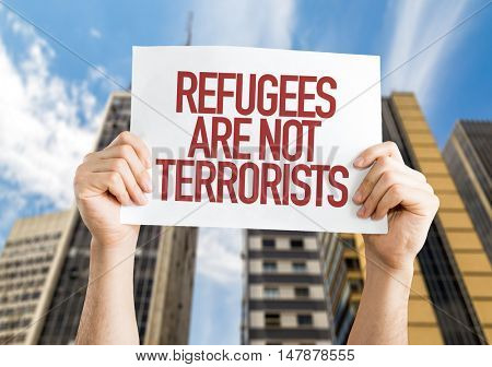Refugees Are Not Terrorists