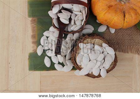 Pumpkin seeds roasted and peeled pumpkin seeds