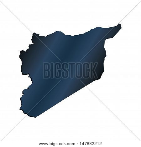 3D Vector Syria Map Carbon Border Outline