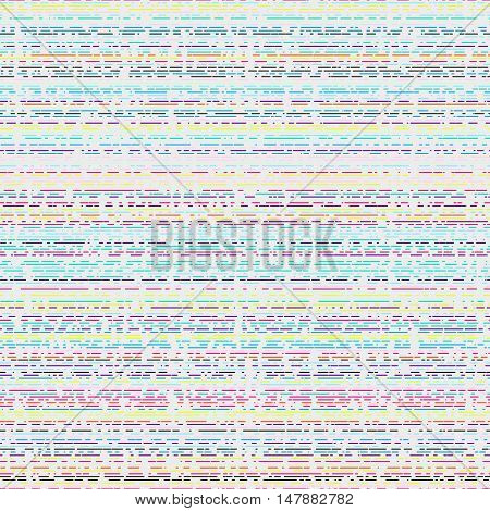 Horizontal irregular intermittent parallel lines. Seamless colorful pattern. Bright texture for a background.