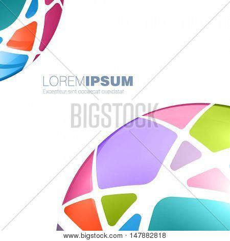 Brochure cover design and  business presentation vector template
