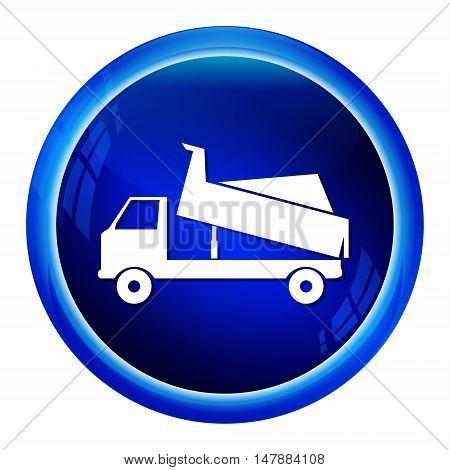Dump Truck icon symbol button vector illustration